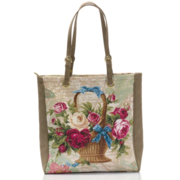 Женская сумка из гобелена со стразами