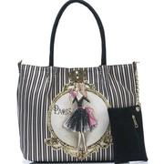 Женскя сумка из гобелена со стразами 3 в одном