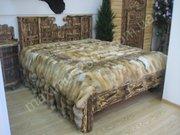 Кровати из дерева под старину